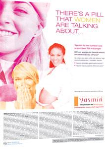 Yasmin oral contraceptive advert