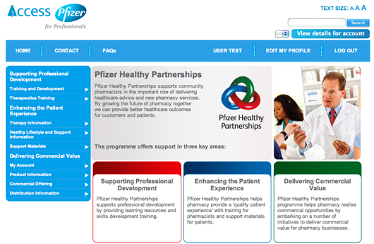 Pfizer pharmacy dispensing doctor website