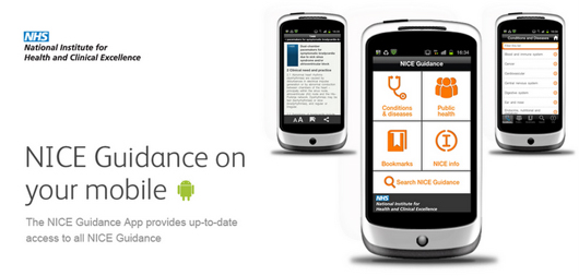 NICE Guidance smartphone Android app