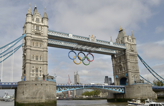 London 2012 Olympic rings