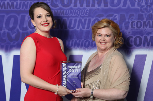 Communique 2013 winner young achiever in healthcare communications