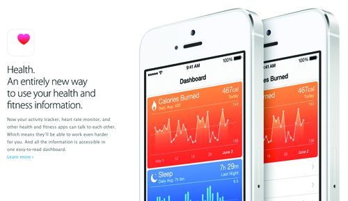 Apple iPhone iOS 8 Health app HealthKit