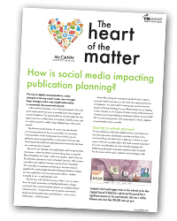 The Heart of the Matter 2 - How is social media impacting publication planning?