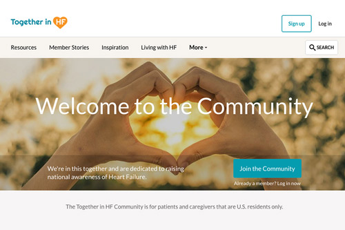 Novartis Together in HF heart failure social network