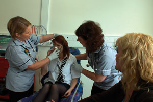 A severe asthma attack, as reconstructed in the case study film used at the ART Forum