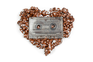 Cassette tape heart - Were healthcare ads really that good in the 1980s?