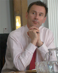 Jeremy Hunt Health Secretary