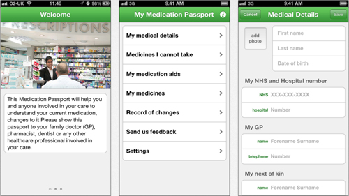 NHS NIHR AstraZeneca Medication Passport