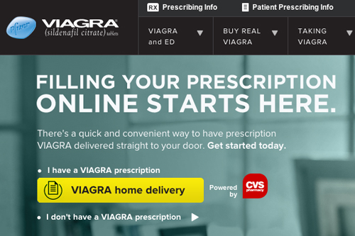 Pfizer CVS/pharma Viagra e-commerce website