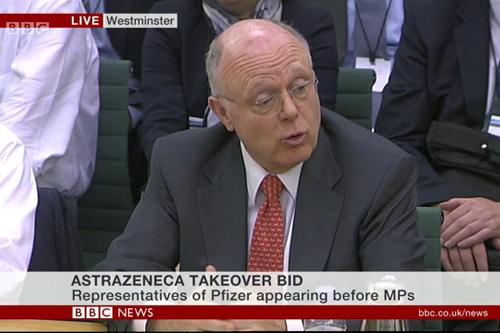 Pfizer Ian Read AstraZeneca AZ MPs
