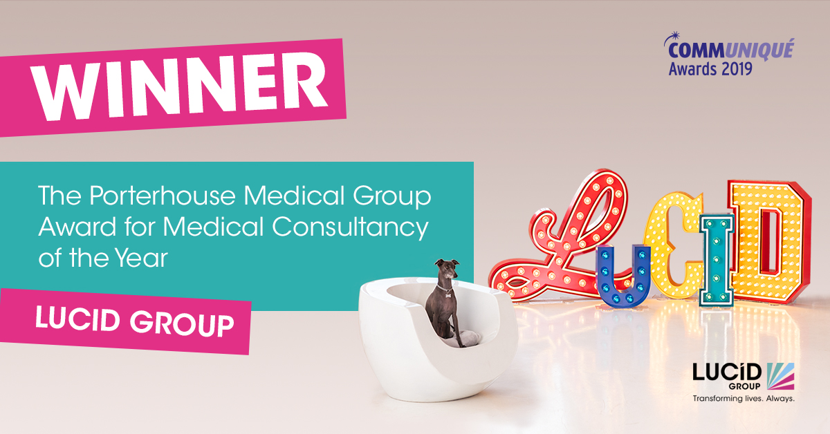 Lucid Group win Medical Consultancy of the Year award at Communiqué