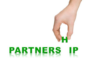 Hand adding the 'h' into 'partnership'
