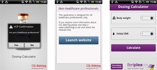 CSL Behring Beriplex Android app