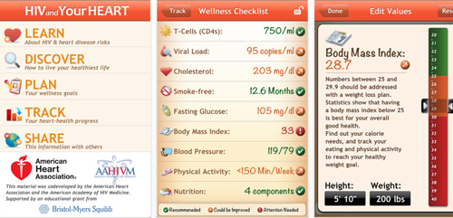 HIV and Your Heart iPhone app