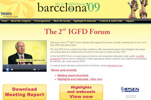 A screenshot of the IGFD website with the forum webcasts