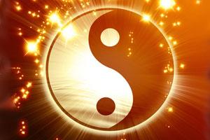 The Chinese yin yang symbol of harmony