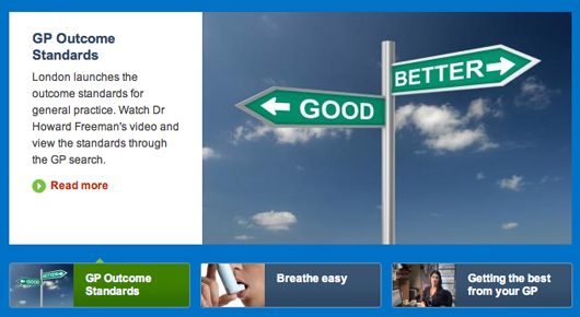 Patient information website MyHealth London