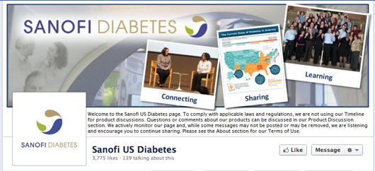 Sanofi diabetes Facebook