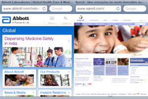 Abbott Sanofi mobile websites