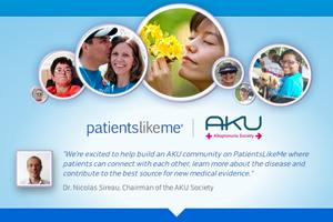 PatientsLikeMe alkaptonuria AKU community