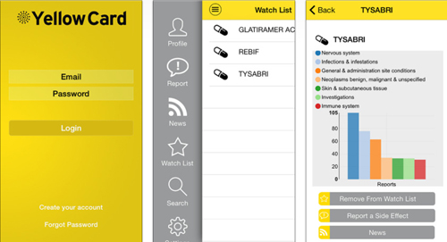 MHRA Yellow Card Scheme iPhone app