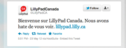 Lilly Pad Canada blog Twitter