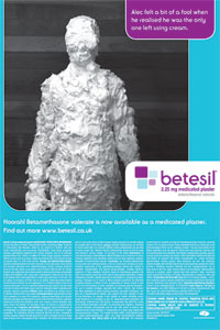Betesil's advert for a medicated plaster