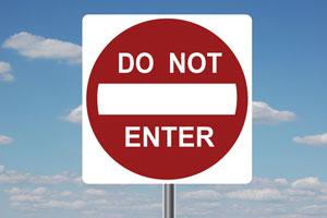 A 'no entry' sign