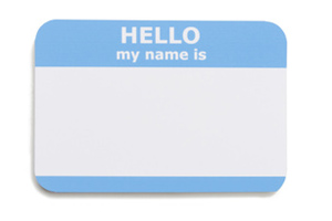 A label with 'My name is...