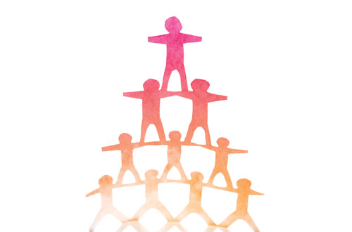 Human cutout pyramid