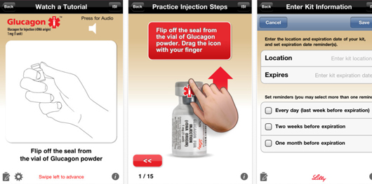 Lilly Glucagon iPhone app