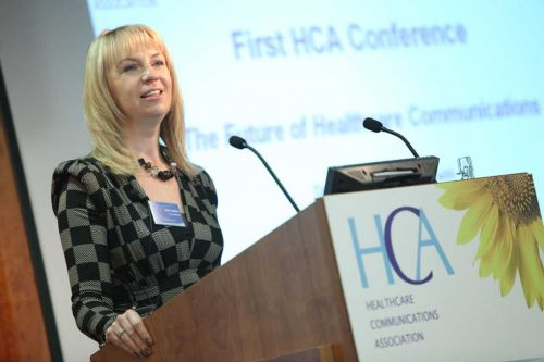 Sarah Matthew hosting the HCA Conference 2010