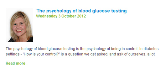 Bayer diabetes blog