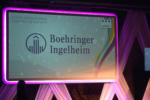 Boehringer Ingelheim PM Society Digital Awards 2016 social media