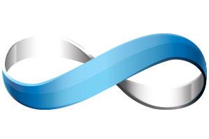 A looped ribbon
