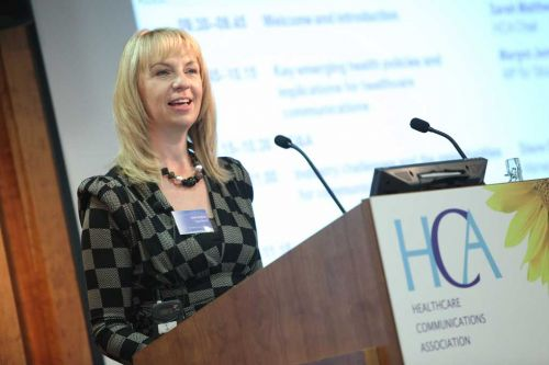 Sarah Matthew hosting the HCA Conference 2010