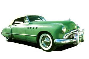 A green American car