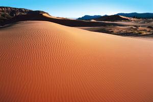 Large sandy hills in desert