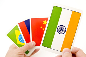 BRIC Brazil Russia India China cards