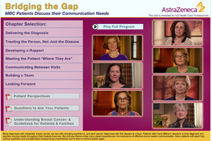 AstraZeneca AZ breast cancer video portal