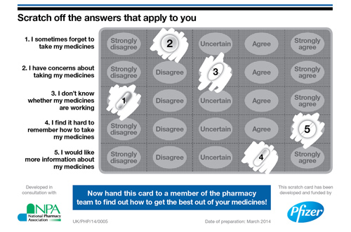 Scratch-card-medicines optimisation