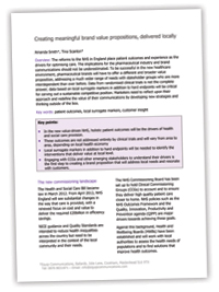 Equp white paper - Creating meaningful brand value propositions, delivered locally