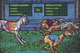 A greyhound race