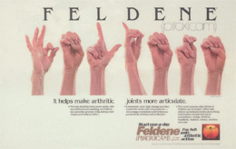 A real gem: this feldene ad gets it right