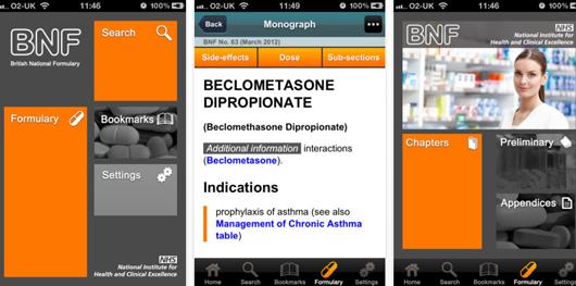 NICE BNF iPhone smartphone app