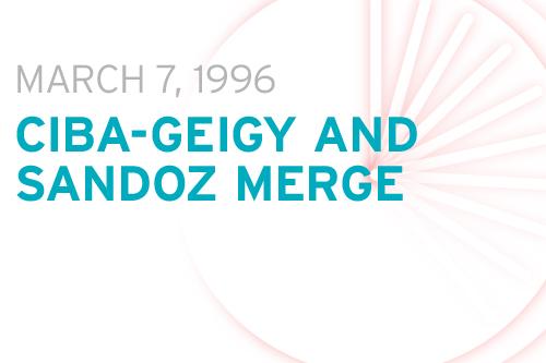 Ciba-Geigy and Sandoz merge
