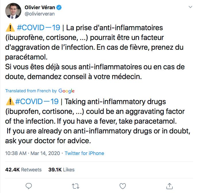Olivier Veran tweet