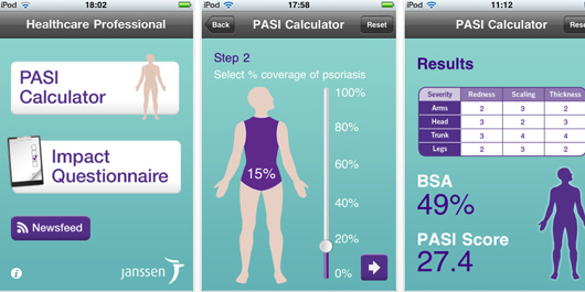 Janssen Psoriasis iPhone app