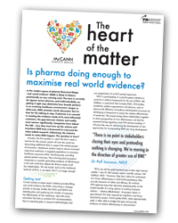 The Heart of the Matter 3: Is pharma doing enough to maximise real world evidence?