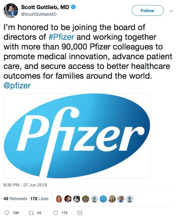 Gottlieb Pfizer tweet